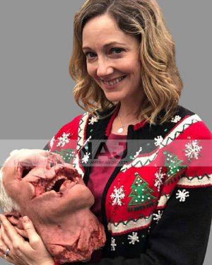 Judy Greer Halloween Kills Karen Woolen Black Christmas Sweater