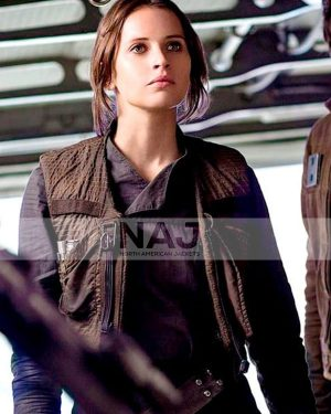 Rogue One: A Star Wars Story 2016 Jyn Erso Vest with Jacket