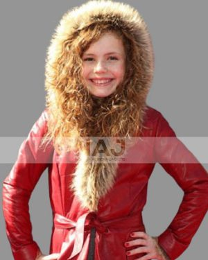 Darby Camp The Christmas Chronicles 2 Hooded Leather Fur Coat