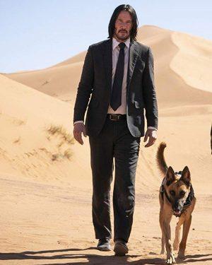 Keanu Reeves John Wick Black Suit Coat
