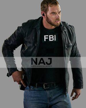 Kenny Crosby FBI Most Wanted Kellan Lutz Black Leather Jacket