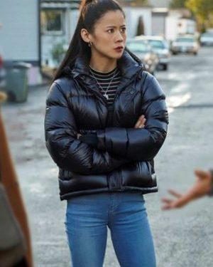 Nancy Drew George Fan Black Puffer Jacket