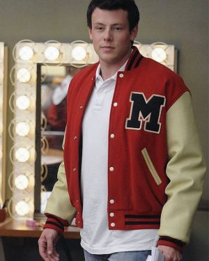 Cory Monteith Glee Finn Hudson Varsity Jacket