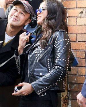 F9 the Fast Saga Michelle Rodriguez Black Leather Jacket