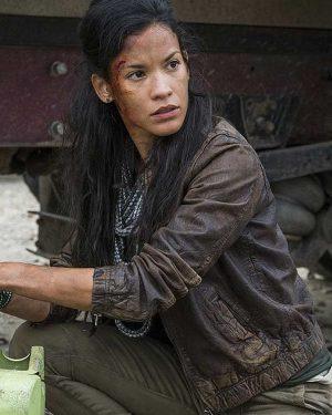 Fear-the-Walking-Dead-Luciana-Galvez-Brown-Leather-Jacket