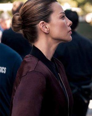 Chloe Decker Lucifer Season 05 Lauren German Maroon Bomber Jacket