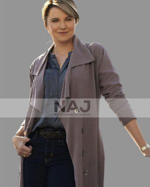 Alexa Crowe My Life Is Murder Lucy Lawless Cotton Trench Coat