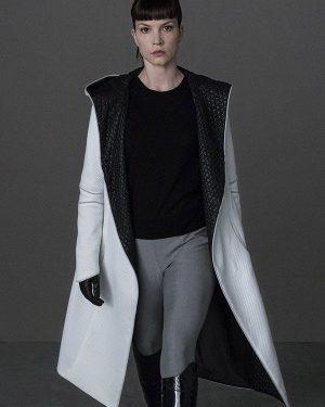 Blade Runner 2049 Sylvia Hoeks White Leather Jacket
