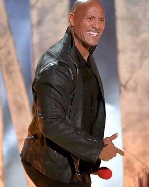 Dwayne Johnson MTV Awards Leather Jacket