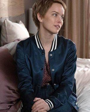 Allison Miller Blue Letterman A Million Little Things Maggie Bloom Varsity Jacket