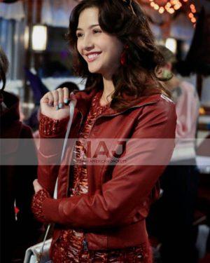 Katie Findlay TV Series The Carrie Diaries Maggie Landers Leather Jacket