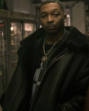 Power Book III Raising Kanan Malcolm M. Mays Shearling Black Leather Jacket