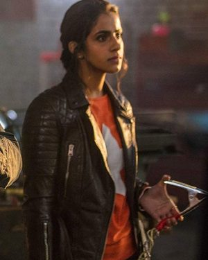 Mandip Gill TV Series Doctor Who Yasmin Khan Biker Leather Jacket