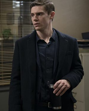 Detective Colin Zabel Mare of Easttown 2021 Evan Peters Black Wool Trench Coat