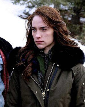 Melanie Scrofano Wynonna Earp Parka Jacket Olive Green Fur Collar