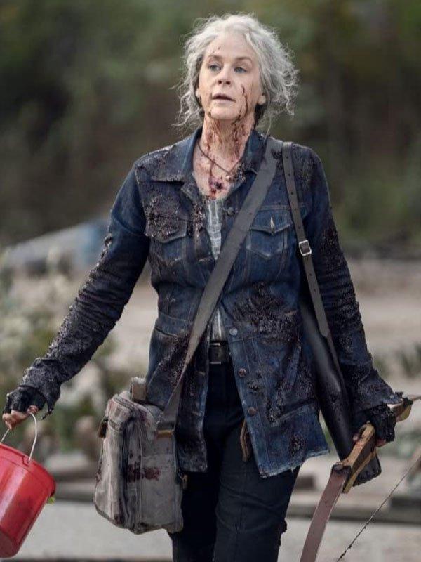 The Walking Dead S10 Carol Pelestier Blue Denim Jacket