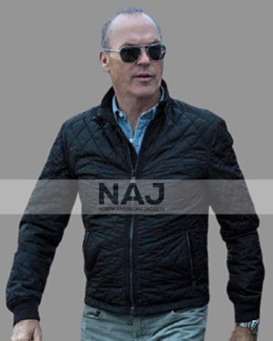Michael Keaton American Assassin Movie 2017 Stan Hurley Black Quilted Jacket