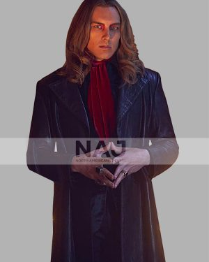Cody Fern TV Series American Horror Story Black Leather Trench Coat