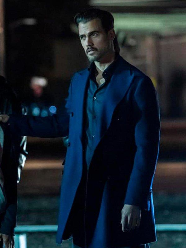 Michel Deveaux The Equalizer Thomas Beaudoin Blue Mid-Length Coat