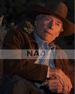 Clint Eastwood Cry Macho Mike Milo Brown Suede Leather Jacket