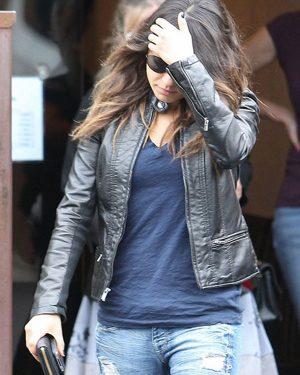 Mila-Kunis-Black-Leather-Jacket