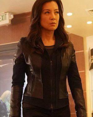 Melinda May Agents of Shield Black Leather Jacket