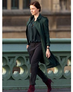 Rebecca Ferguson Mission Impossible 5 Green Trench Coat