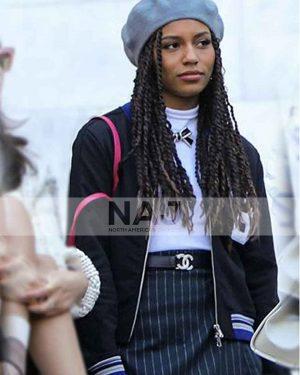 Savannah Lee Smith Gossip Girl Black Varsity Jacket