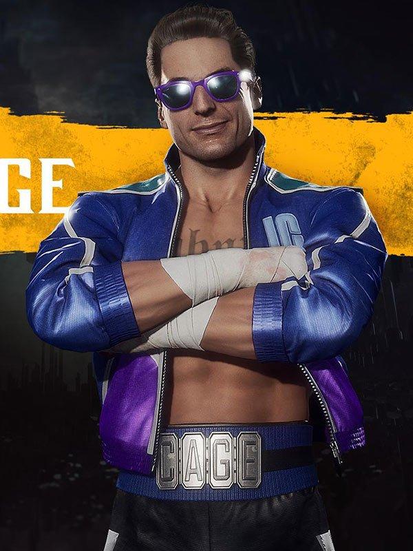 Johnny Cage Mortal Kombat 11 Blue Jacket