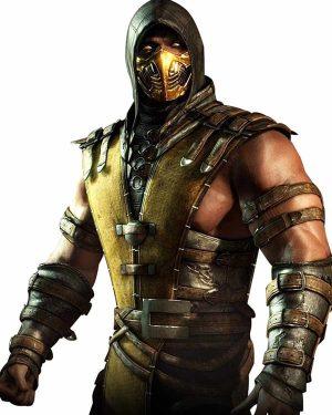 Scorpion Mortal Kombat Hooded Black Leather Jacket