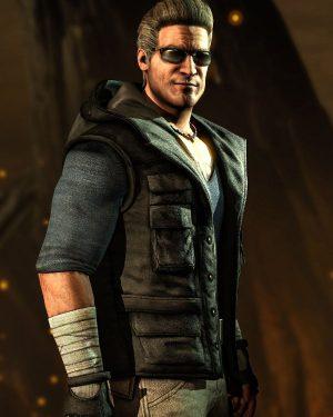 Video Game Series Mortal Kombat Johnny Cage Black Hoodie Vest