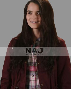 Brianna Hildebrand Playing with Fire Maroon Cotton Jacket