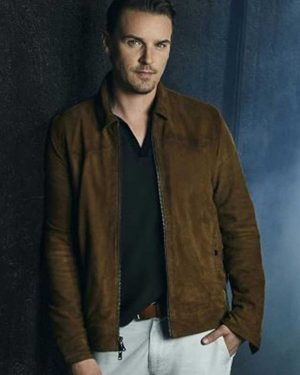 Riley Smith Nancy Drew Brown Suede Leather Bomber Jacket
