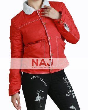 Natalia Dyer Stranger Things Red Jacket