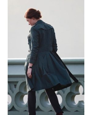 Mission Impossible 5 Ilsa Faust Green Trench Coat