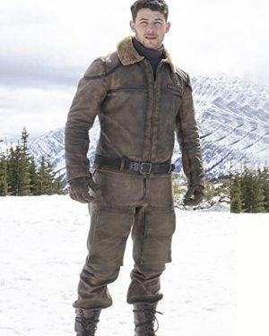 Alex Vreeke Jumanji 3 Brown Shearling Leather Jacket