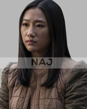 Olivia Liang Kung Fu Brown Quilted Jacket
