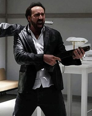 Prisoners of the Ghostland Nicolas Cage Black Leather Blazer Jacket