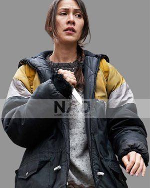 Niska Tailfeathers Night Raiders Movie 2021 Elle-Maija Parachute Black Jacket