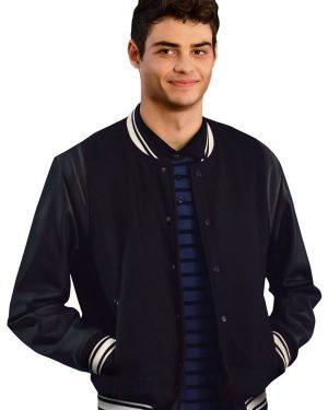 The Perfect Date Brooks Rattigan Black Varsity Jacket