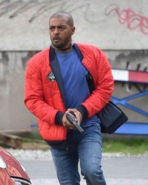 Aaron-Bishop-Bulletproof-Red-Bomber-Jacket