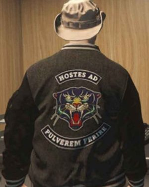 Video Game Grand Theft Auto VI Panther Gray Varsity Jacket