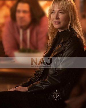 Beth Riesgraf Leverage Redemption S01 Parker Black Leather Jacket