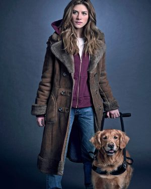 In the Dark Murphy Mason Brown Leather Trench Coat