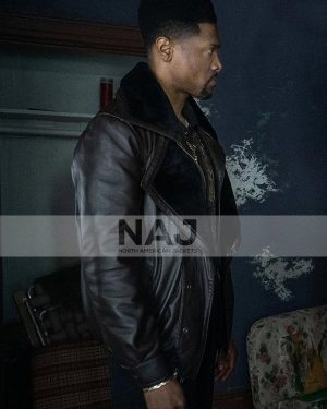 Power Book III Raising Kanan S01 London Brown Black Shearling Leather Jacket