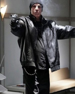 Nick Cassavetes Prisoners of The Ghostland Black Bomber Leather Jacket