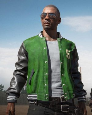 Pubg 5M Varsity Leather Jacket