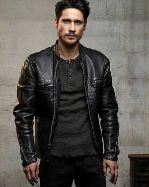 Queen of The South Peter Gadiot Biker Leather Jacket