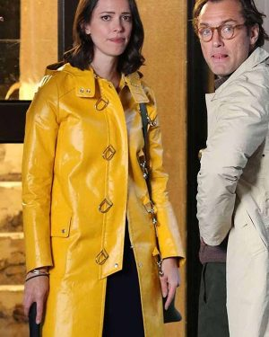 A Rainy Day In New York Connie Yellow Coat