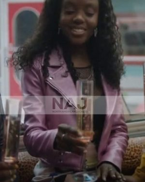 Josie McCoy Riverdale Season 5 Ashleigh Murray PInk Biker Leather Jacket